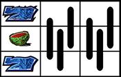 左リールに青7・スイカ・青7停止