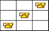 右上がり黄7
