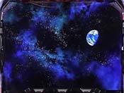終了画面・宇宙空間+地球