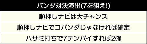 パンダ対決演出(7を狙え!)