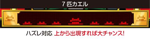 「7匹」カエル