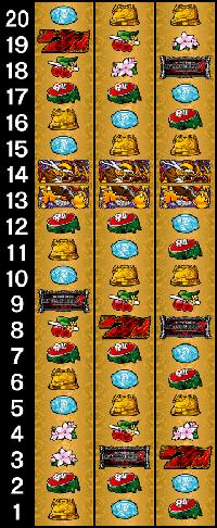 麻雀格闘倶楽部2・リール配列