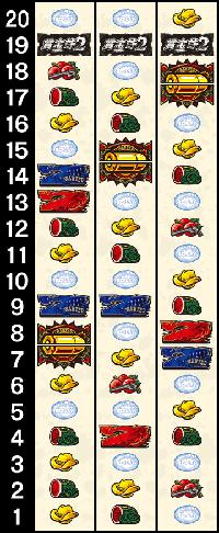 賞金首2のリール配列
