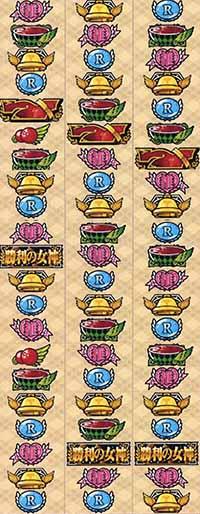 AKB48勝利の女神・リール配列